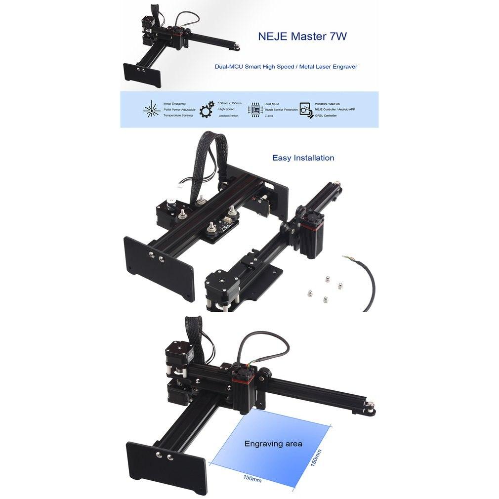 NEJE Master 7000 МВт МИКРО лазерный гравер гравировальный маркировочный станок маршрутизатор резак принтер для металла/твердого дерева/пластмасс...