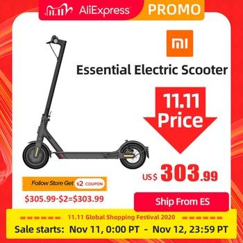 Xiaomi MIJIA-Scooter eléctrico Mi Lite esencial para adultos, patinete plegable, miniaerodeslizador, skateboard inteligente
