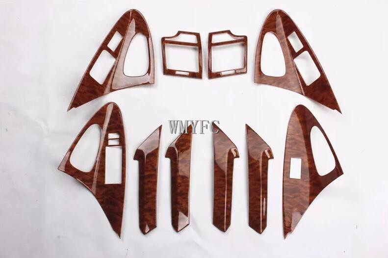 For TOYOTA Camry 2006-2011 Wood ABS Chrome Car All Kinds Of Interior Accessories Cover Trim Car Styling Auto Accessories