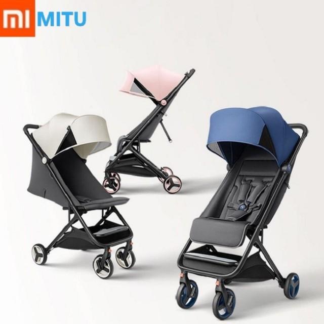 XIAOMI Mitu wózek dziecięcy składany 4 koła amortyzacja wysoki krajobraz samochód dla noworodka przenośny wózek podróżny tanie i dobre opinie CN (pochodzenie) Chair Baby child Nowoczesna i minimalistyczna Z tworzywa sztucznego China 470mmX270mmX510mm MTTC01BT