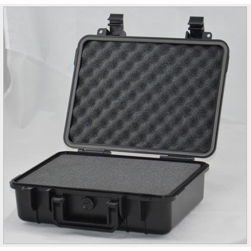 ABS tööriistakasti tööriistakast löögikindlast suletud veekindlast turvaümbrisest varustuse kaameraümbris eelnevalt lõigatud vahuga 255 * 190 * 85mm