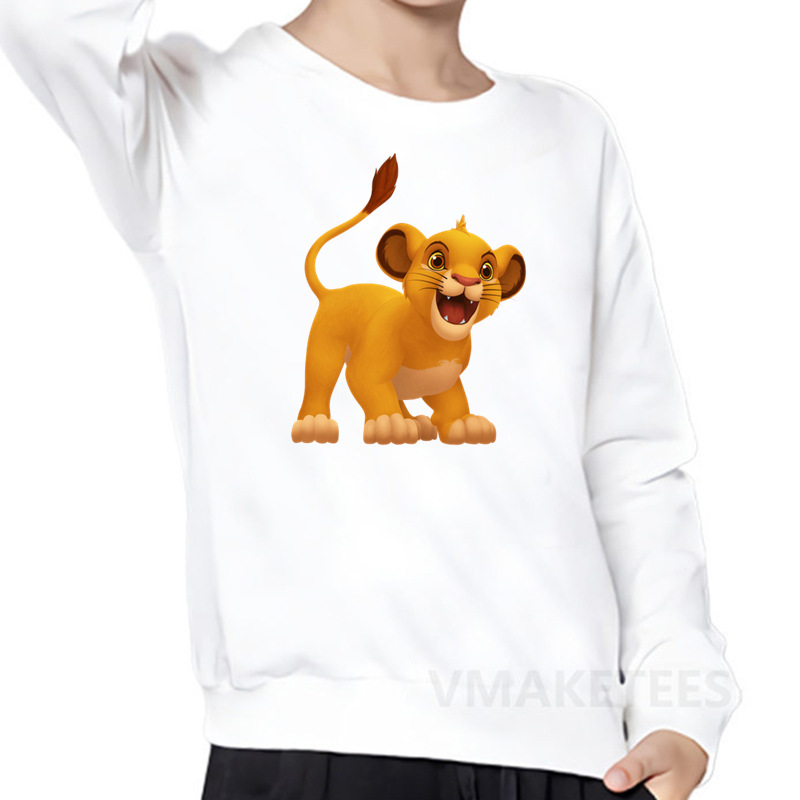 Children Kid Boy Cartoon Lion Letter Cotton Warm Top Sweatshirt Pullover Clothes