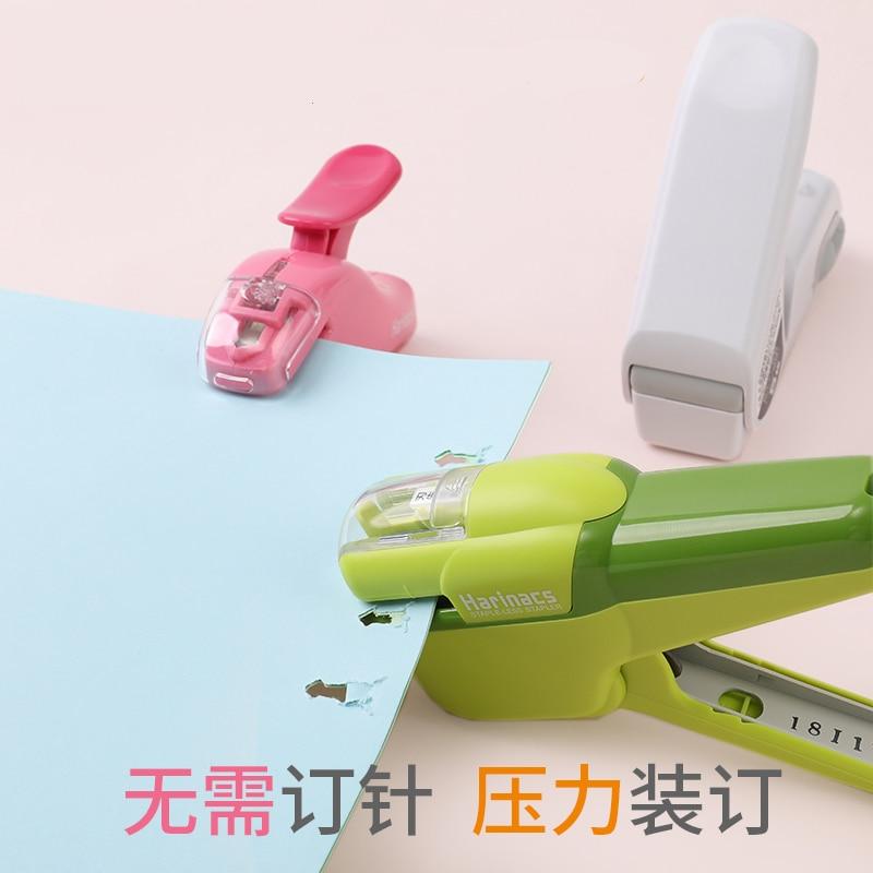 1pc KOKUYO Harinacs Staple-Free Manual Stapler Large Creative Press Type Embossing Plier Stapler Office Stationery Safe Easy Use