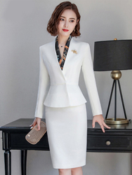 Professional Dress Temperament Goddess Fan High End Beautician Work Clothes Manager Celebrity Female President Suit Small Fragra