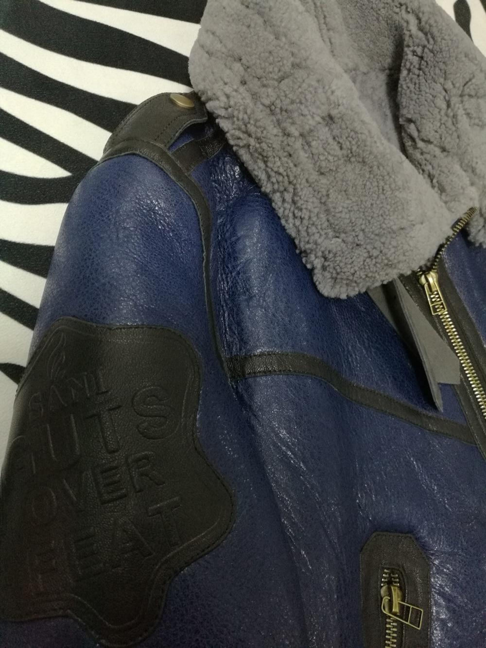 Ha458ff2a2eb5458787c721767a07342aS 2019 Fashion 100% Quality Real Sheepskin Fur Men Coat Genuine Full Pelt Sheep Shearling Male Winter Jacket Brown Men Fur Outwear