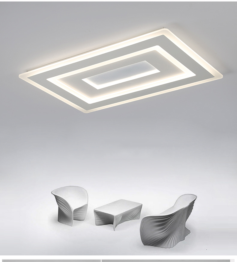 Ha45904c1b8284428bdd0116e235ab842r Surface Mounted Modern Led Ceiling Lights for living room bedroom Ultra-thin lamparas de techo Rectangle Ceiling lamp fixtures