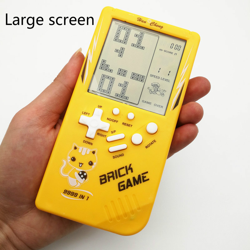 80's Big Screen Teris Game Console Student Children Birthday Gift Handheld Nostalgic Handheld Puzzlee Toy Vintage