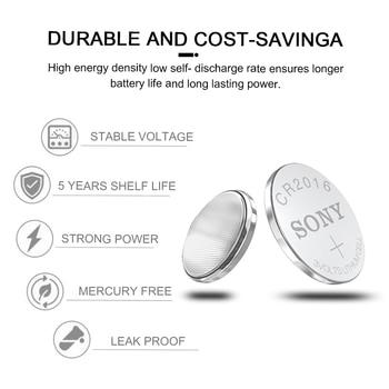 100 Uds Sony 3V CR2016 pilas de botón de litio batería de botón CR 2016DL2016 KCR2016 LM2016 BR2016 para reloj con calculadora Juguetes