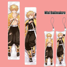 Demon Slayer: Kimetsu Geen Yaiba Anime Mini Dakimakura Sleutelhanger Opknoping Kussen Telefoon Strap Print Figuur Cosplay Hanger Charm Gift