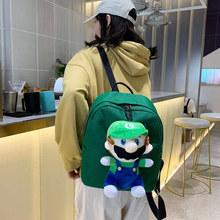 Fashion backpack fashion brand design boys and girls backpack cartoon cute funny backpack birthday gift black hat design cute backpack