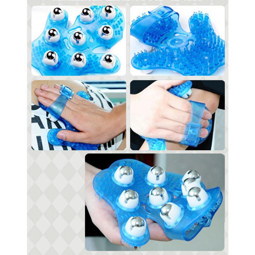 Body Massage Glove Roller Anti-Cellulite Pain Relief Relax Massager Neck Shoulder Massage Gloves Health Care