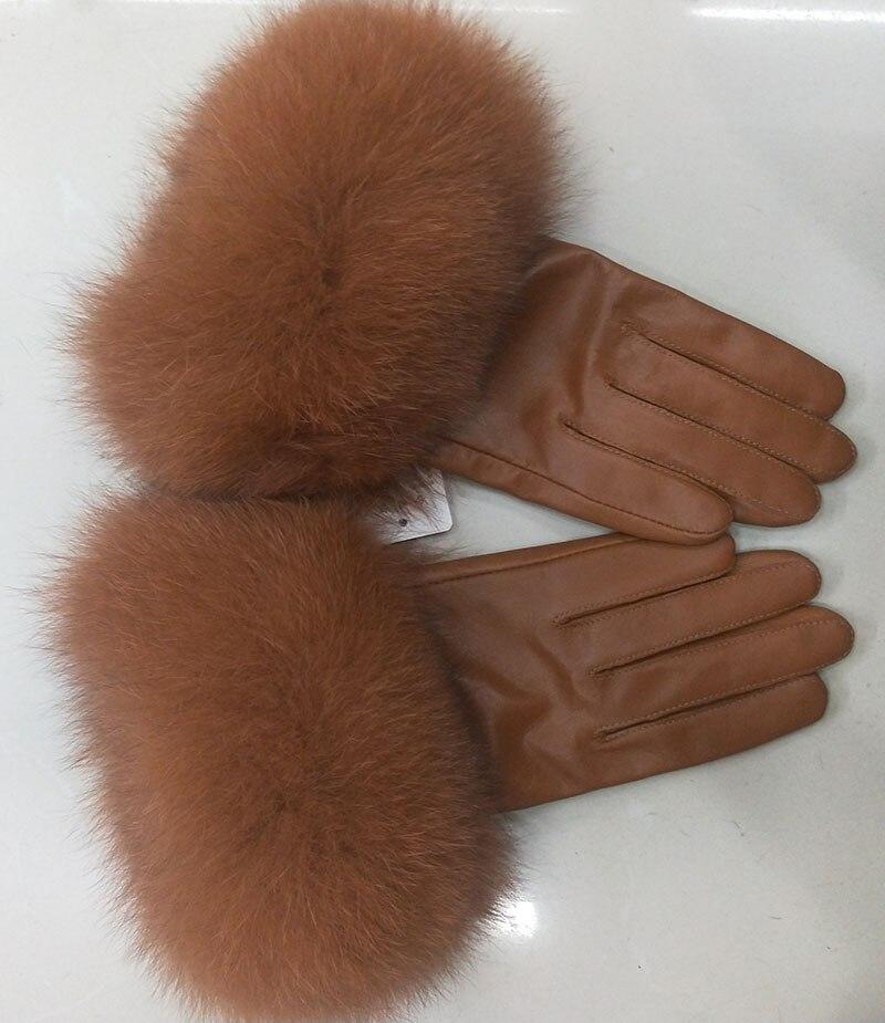 Gants de luxe en cuir véritable pour femmes
