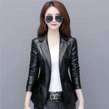 Новинка размера плюс 3XL 4XL женская кожаная куртка модная мотоциклетная кожаная куртка Женский кожаный костюм женский пиджак блейзер