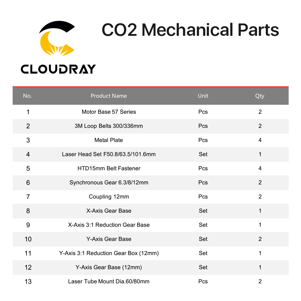 Image 3 - Cloudray E Series CO2 Laser Mechanical Parts Metal Components for DIY CO2 Laser Engraving Cutting Machinemachinecomponents  -