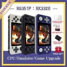 חדש RG351P ANBERNIC רטרו משחק קונסולת RK3326 לינוקס מערכת מחשב מעטפת PS1 משחק נגן נייד כיס RG351 כף יד קונסולת משחקים