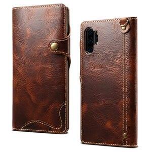 Image 2 - Brieftasche Fall Für Samsung Galaxy Note 20 Ultra S20 Plus S8 S9 S10E S10 5G Hinweis 10 8 9 echtes Leder Flip Cover Handgelenk strap Fall