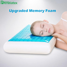 PurenLatex 60*40*12 Silicone Gel Memory Foam Summer Cool Pillow Spondylosis and Eczema Prevented For Cervical Vertebra Healing