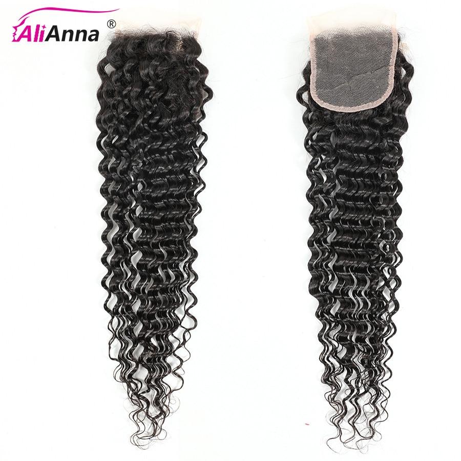 6x6 Closure Alianna Hair Deep Wave Closure Peruvian Human Hair Closure Remy Hair Weaving 5x5 Lace Closure Cheep Hair For Women