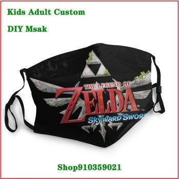 DIY fashion mask Zelda Skyward Sword mascarillas de tela lavables con filtro uxury designer face mask washable mask pm2.5