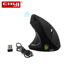 лучшая цена CHYI Left Handed Wireless Vertical Mouse Left Hand Ergonomic Rechargeable Optical Usb Mause 6 Button PC Gaming Mice For Laptop