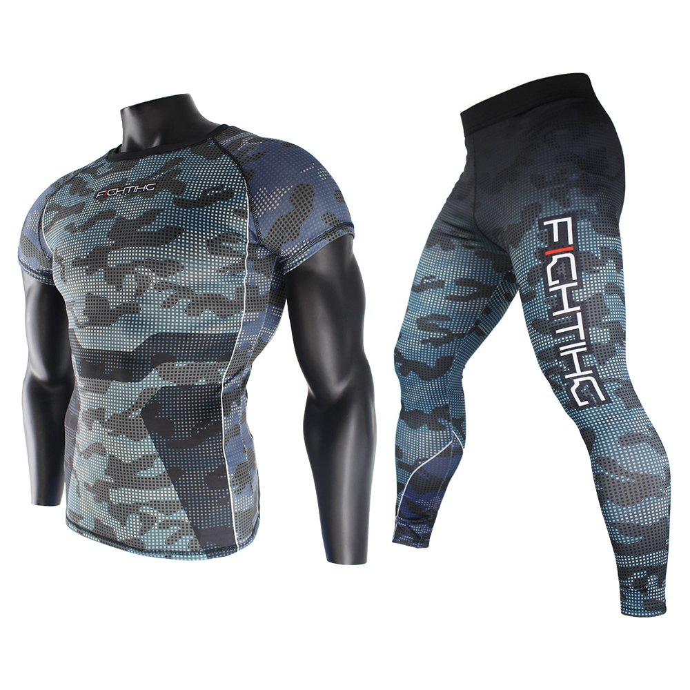 FTEIF MMA Fighting Camouflage Fitness Breathable Skinny Boxing Jerseys Tiger Muay Thai Jiu Jitsu T Shirt Mma Rashguard Boxing