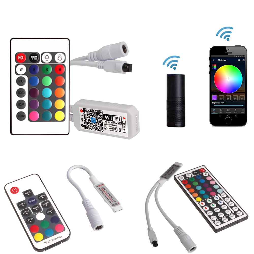 Magic Home 12V Wireless WiFi LED Controller RGBW IR RF LED Controller for SMD 5050 2835 led strip Light Remote Control RGB