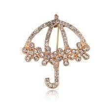 Gariton 2019 Rhinestone Umbrella Brooches Fashion Korea Brooch Lapel Pin Jewelry Accessories For Women