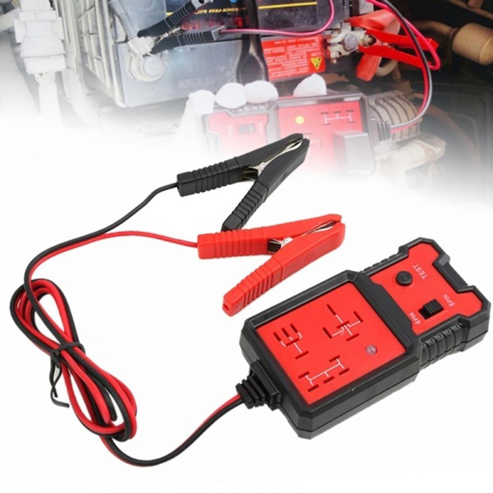 New hot Car Battery Tester 12V Electronic Automotive Relay Tester Cars Auto Battery Checker Diagnostic Tool Automobile <font><b>carros</b></font> image