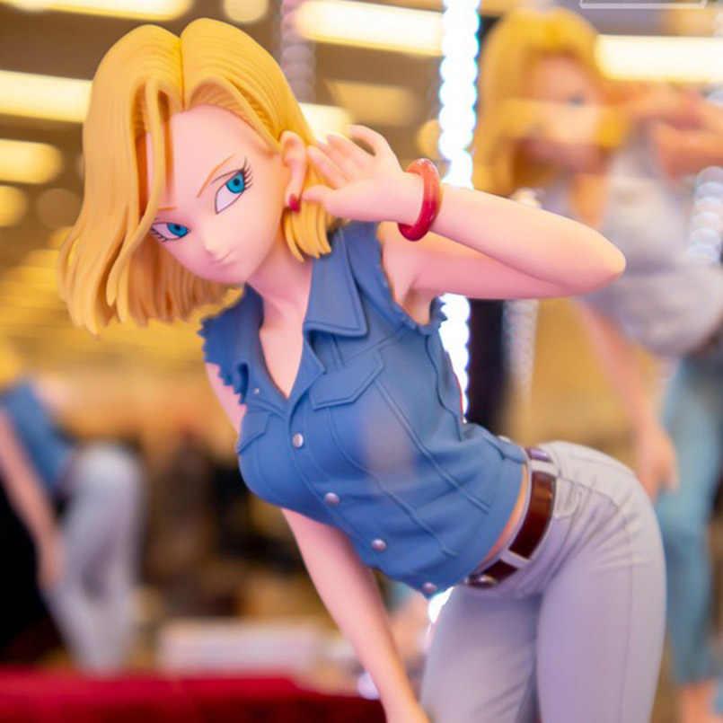 23 سنتيمتر لعبة دراغون بول Z عمل الشكل بريق وبريق خاص اللون أندرويد 18 #2 التماثيل Brinquedos