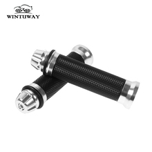 купить WINTUWAY 22MM Motorcycle Handlebar Grips CNC Aluminium Alloy  Universal Street & Racing Motorcycle Racing Grips по цене 179.11 рублей