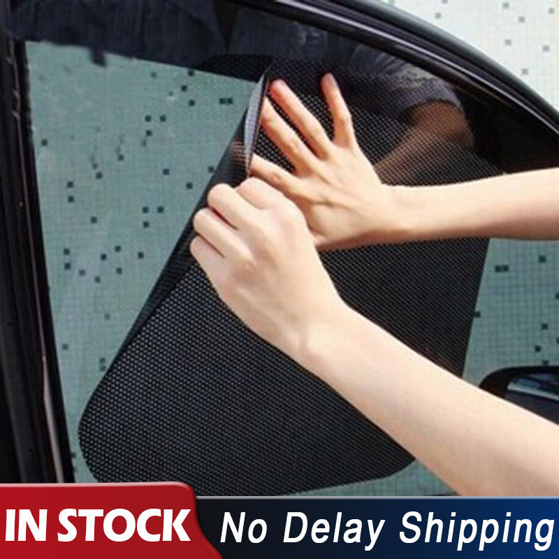 2Pcs Black Car Back Front Window Sun Shade Auto Window Static Cover Accessories Cover Car From Window