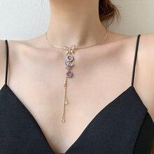 Новое креативное открытое ожерелье чокер с бабочкой для женщин