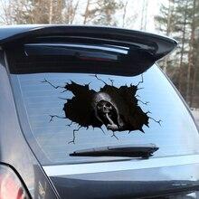 Korkunç kafatası çıkartmaları Sticker sahte taksi araba sopa arabalar için su geçirmez kemik İskeleti pencere tampon kamyon SUV ev kapı duvar etiket