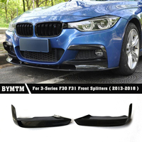 MAD Style Body Kits Carbon fiber Front Splitters Bumper Lip Aprons Side Spoiler For BMW F30 F31 Mtech