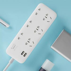 Image 5 - الأصلي شاومي ZMI 18 واط قطاع الطاقة 6 مآخذ التيار المتناوب [3 خمسة/اثنين حفرة] 2 USB الذكية الناتج قطعة واحدة النحاس ترقية السلامة