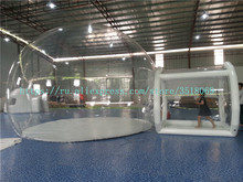 Outdoor Cheap Clear PVC Large Hotel Inflatable Bubble Lodge Tent House For Sale outdoor inflatable half clear bubble camping dome lawn tent inflatable bubble house for hotel