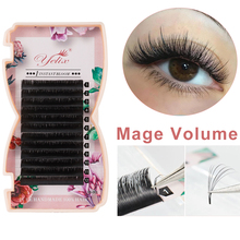 Yelix Mega pestañas voluminosas auto ventilador extensiones de pestañas individuales fácil ventilador para pestañas naturales pestañas para maquillaje profesional