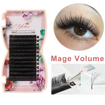 Yelix Mega volume lashes auto Fan individual eyelash extensions Easy fan eyelash Natural Professional eyelashes for building