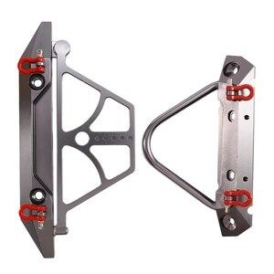 Image 1 - طقم المصد الأمامي والخلفي المعدني للسباق مع حامل إطارات احتياطي مناسب للمحور SCX10 SCX10 II