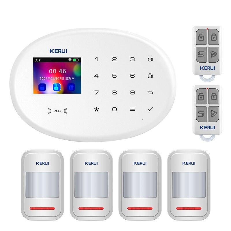KERUI W20 WIFI GSM Alarm System Wireless Home Sicherheit APP Remote Sprache Switch Control 2,4 Zoll Touch Screen Alarm System kit