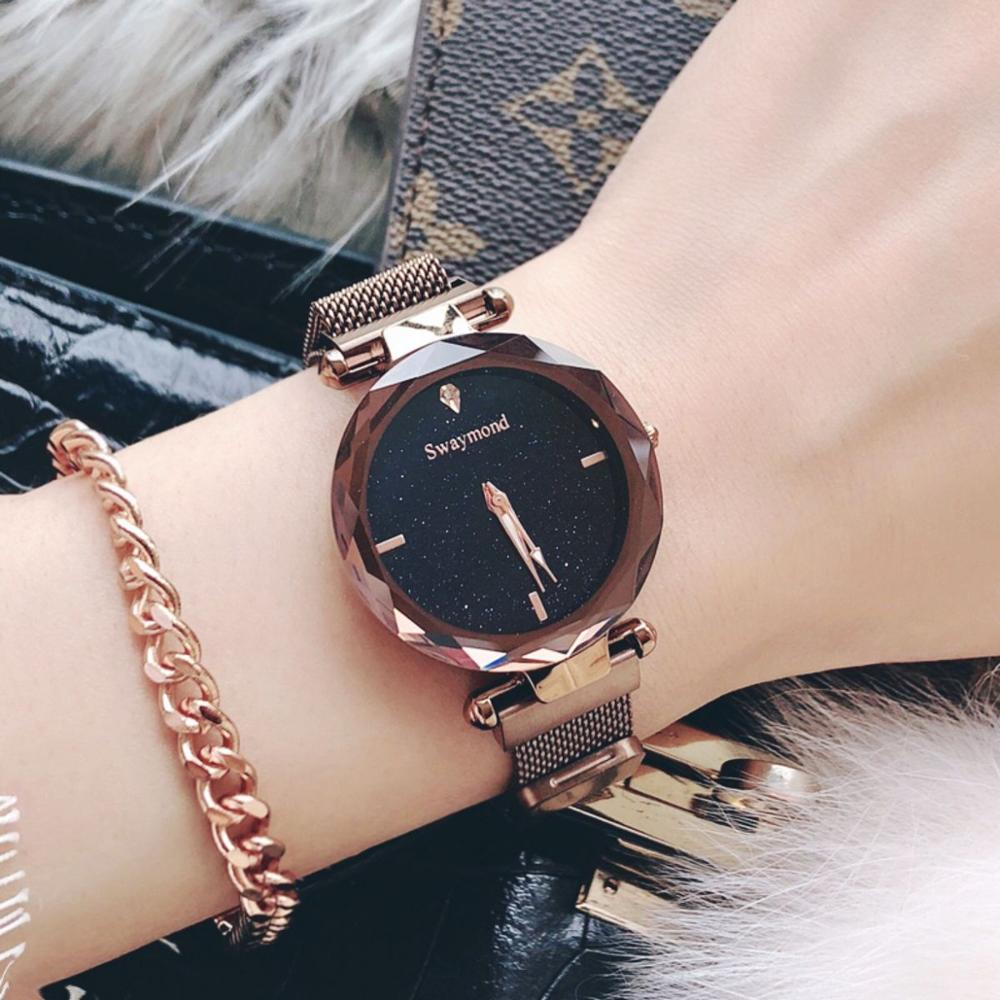 Starry Sky Watch Female Student Korean Version 2019 New Fashion Trend Waterproof Quartz Watch Women's Watches     - title=