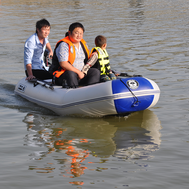 175-260cm PVC Inflatable Boat Wear-resistant Foldable Air Rowing Kayak/fishing boat for 1-5 person Fishing dinghy Outdoor Sports 4