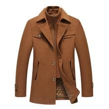 Double Collar Wool Tweed Coat Men's Coat Long Plus Cotton Padded Men's Coat Men's Grey Tweed Coat Wine Red Tweed Coat Grey Coat drop shoulder plaid tweed plus size coat