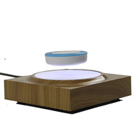 DIY Magnetic Levitation Water transfer wooden base floating magnet display tray with light hold 200g Small toys, jewelry ,cups,