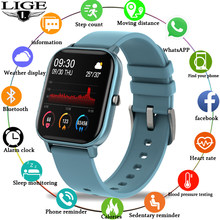 Ini Fashion Smart Watch Pria IPX7 Tahan Air Kebugaran Tracker LED Full Layar Sentuh Monitor Detak Jantung Olahraga Smart Watch Wanita(China)