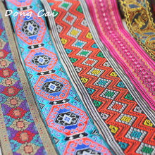 5cm wide african grosgrain ribbons for crafts dress Ribbon Embroidery lace Stage costume accessories trims