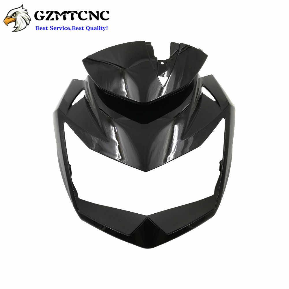 Upper Front Head Fairing Headlight Cowl Nose For kawasaki Z750 2007-2012 Black