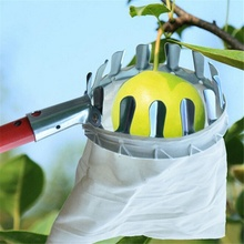 Metal Fruit Picker Horticultural Convenient Fabric Orchard Gardening Apple Peach High Tree Picking Tools