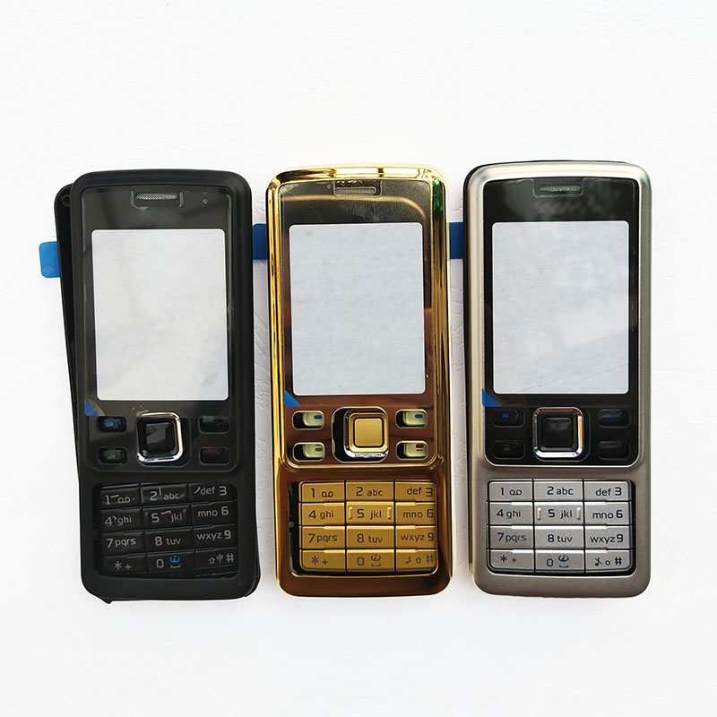 BINYEAE New Metal Complete Full Housing For Nokia 6300 Front Frame + Middle + Back Cover + Keyboard + Logo