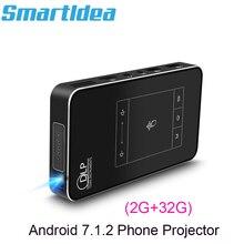Smartldea T18 (2 グラム + 32 グラム) android 7.1.2 スマートdlpプロジェクターサポートAC3 hd 1080pビデオビーマーbluetooth airplay dlna